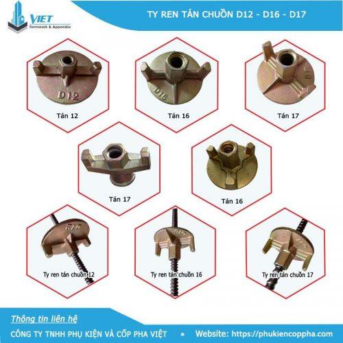 Ty ren và tán chuồn tại Phụ Kiện Và Cốp Pha Việt