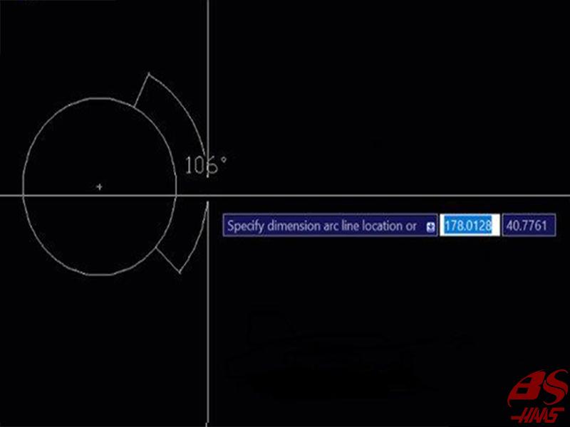 Cách 1: Đo góc của đường tròn