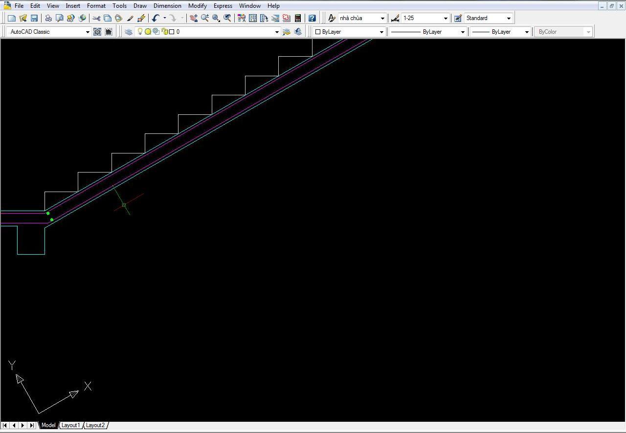 Lệnh xoay trục tọa độ trong cad