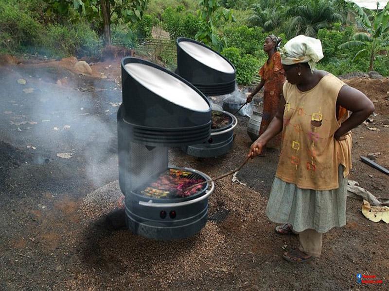 nấu ăn bằng năng lượng mặt trời