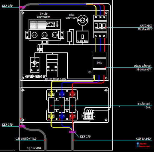 bản vẽ tủ điện công nghiệp nhỏ
