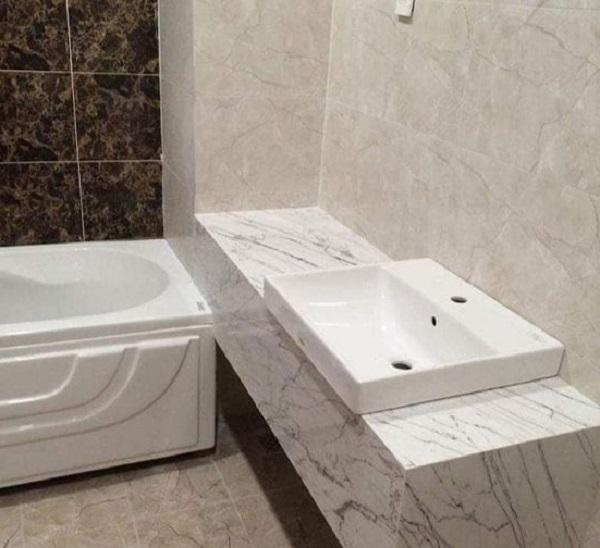 lựa chọn đá bàn lavabo mang đến không gian sang trọng