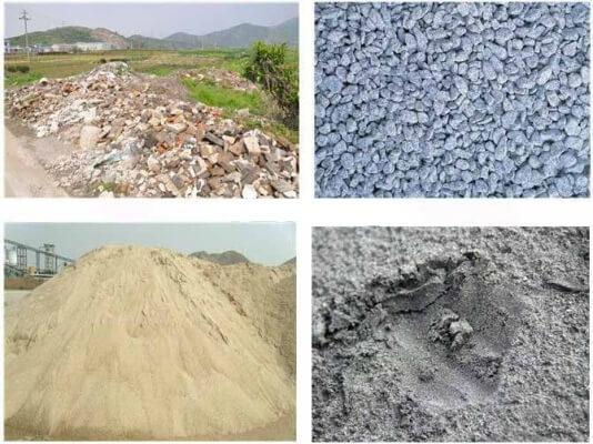 Cát, đá, sỏi xây dựng