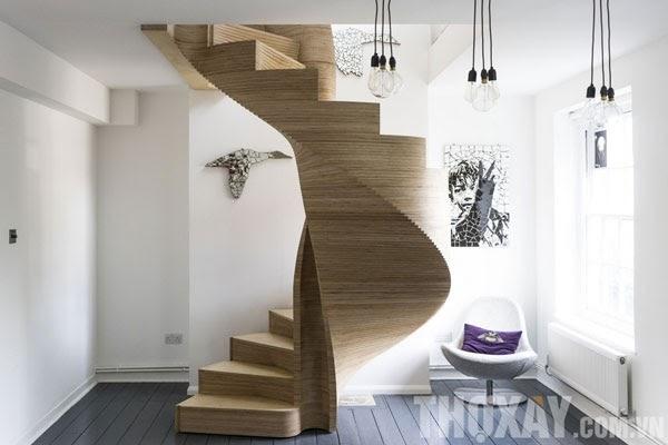 Cầu thang lượn hình chữ S