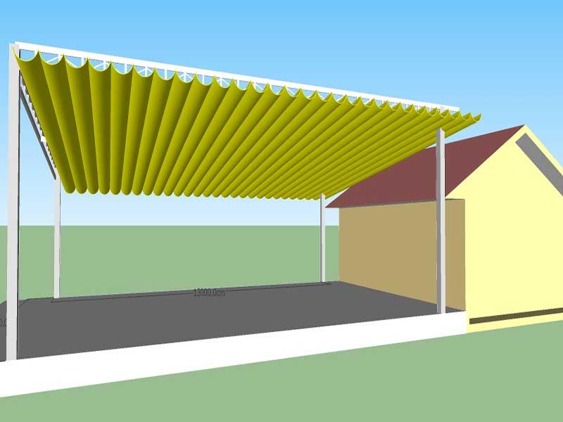 Thiết kế mái xếp-Bản vẽ cad mái xếp mẫu 1