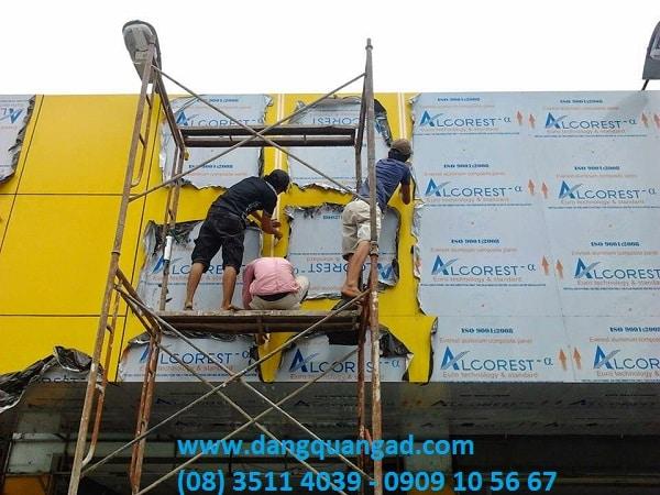 Hướng dẫn cách thi công ốp aluminium