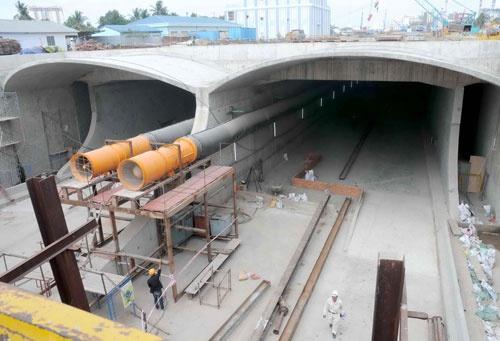 Quá trình xây dựng hầm vượt sông lớn nhất Đông Nam Á - ảnh 23
