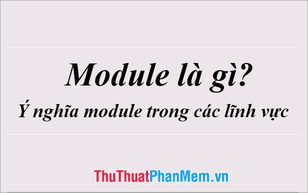 Module là gì