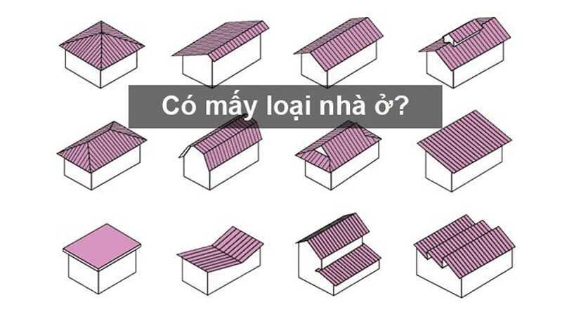 Các loại nhà: Nhà cấp 1, Nhà cấp 2, nhà cấp 3, nhà cấp 4 và nhà cấp 5
