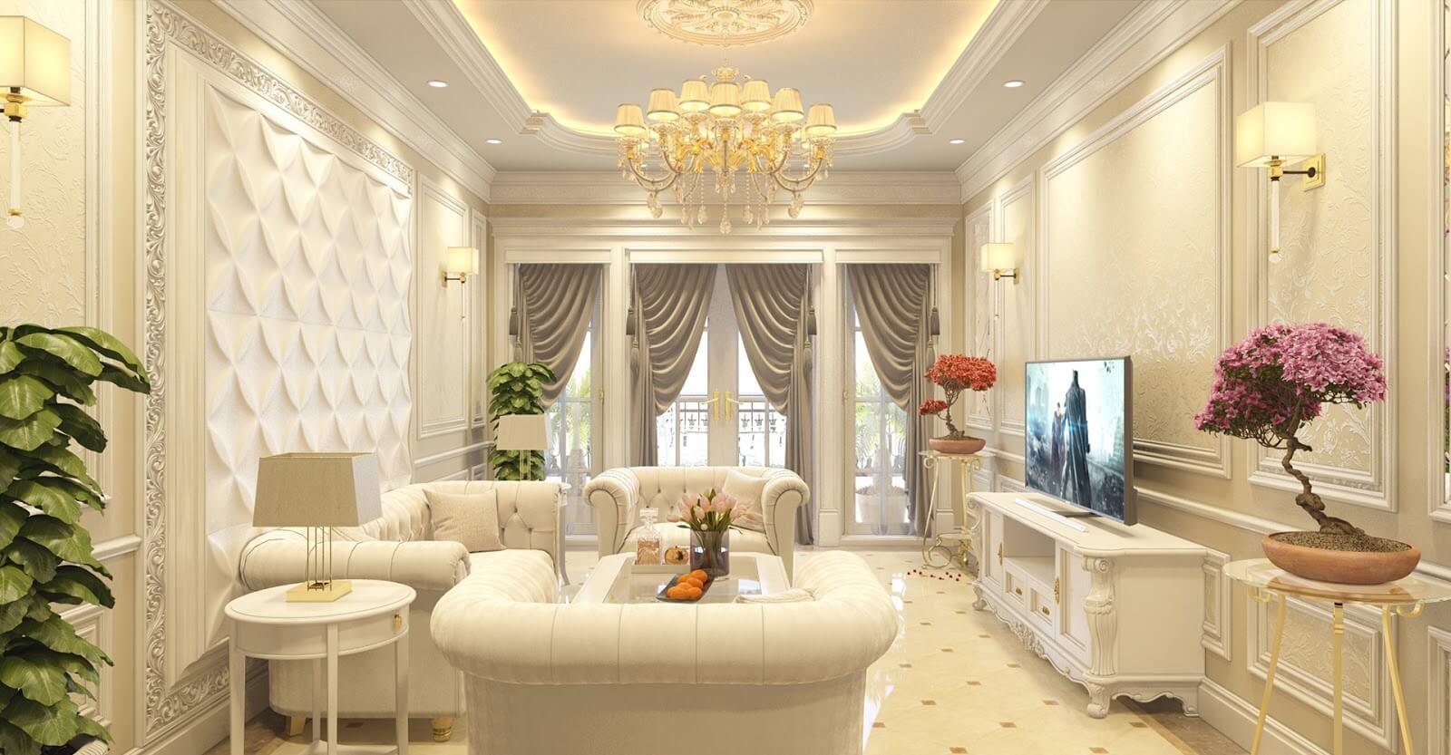 thiết kế theo phong cách nội thất tân cổ điển