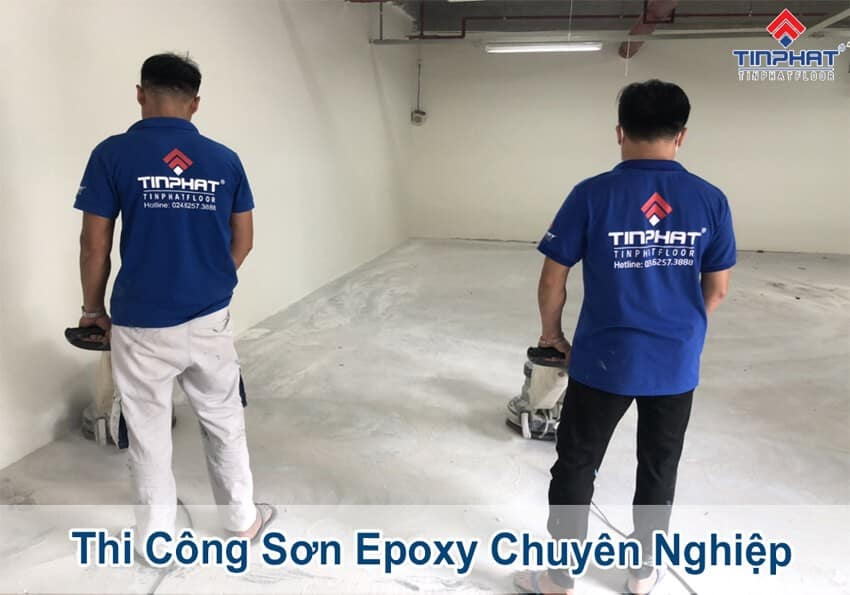 Quy trình thi công sơn Epoxy chuyên nghiệp