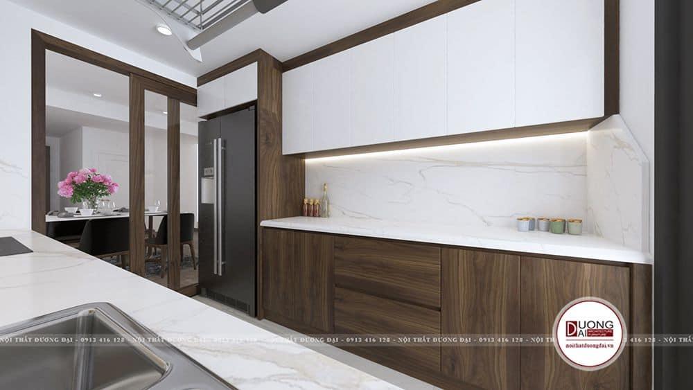 Tủ bếp và toilet nên dùng loại gỗ lõi xanh chống ẩm của An Cường